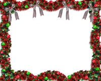 background border christmas garland Στοκ Φωτογραφία