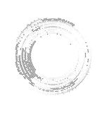 Background border from dots path form circles Royalty Free Stock Photo