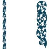 Background border pattern, silhouette design plant ornament stock illustration