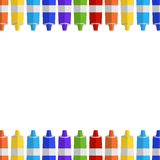 Background and border from tubes of paint. Place for your text. Vector background and border from tubes of paint. Place for your text Royalty Free Stock Photos