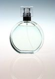 Background with bottle of perfume. In a good light with two colours on backgrounds Royalty Free Stock Photos