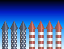 Background of Bottle Rockets. With room for your text Royalty Free Stock Photo