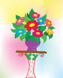 Background. A bouquet with colors in a vase Royalty Free Stock Photos