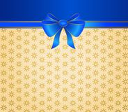 Background with bow. Christmas ribbons decorated background with bow Stock Photography