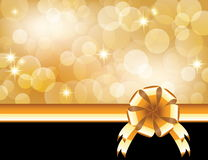 Background with bow Royalty Free Stock Photo