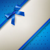 Background with bow blue Stock Images