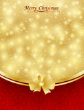 Background with bow, stars and blurry light. Illustration Stock Photos