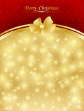Background with bow, stars and blurry light. Illustration Stock Photography