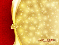 Background with bow, stars and blurry light. Illustration Stock Photo