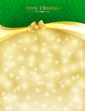 Background with bow, stars and blurry light. Illustration Royalty Free Stock Photos