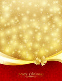 Background with bow, stars and blurry light. Illustration Stock Image