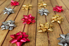 Background of bows for gifts Stock Photos