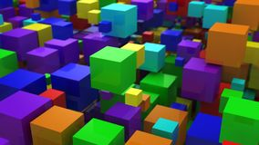 Background of Boxes. Abstract background, loop, created in 4K, 3d animation royalty free illustration
