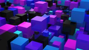 Background of Boxes. Abstract background, loop, created in 4K, 3d animation stock illustration