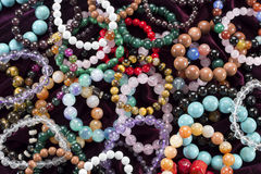 Background with bracelets Royalty Free Stock Image