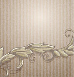 Background with branch. Vintage grungy background with branch Stock Image