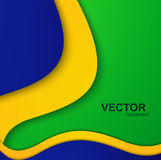 Background for Brazil flag concept stylish wave Royalty Free Stock Photos