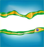 Background with brazil flag. On white background Royalty Free Stock Photography