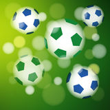 Background in Brazilian colors, soccer concept, Royalty Free Stock Images