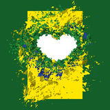 Background Brazilian flag colors, abstraction Royalty Free Stock Photo