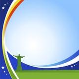 Background of Brazilian football Royalty Free Stock Photo