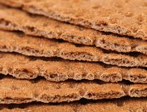 Background of bread crisps. Macro. Stock Photography