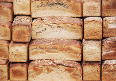 Background  with bread loaves Royalty Free Stock Photography