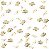 Background of the bread and spikelets Royalty Free Stock Photos