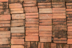 Background of brick floor texture. Stock Photo