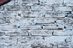 Brick wall painted in different colors Stock Photography