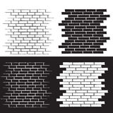 Background of the brick wall  illustration set Royalty Free Stock Image