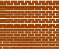 Background of brick wall made of brown bricks Stock Images