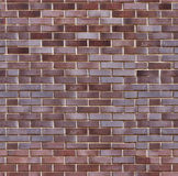 Background of brick wall. Background of modern dark brown brick wall texture. tiling, seamless Stock Images