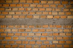Background of brick wall. Natural texture Stock Images
