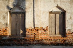 Background brick wall  on the old church Royalty Free Stock Images