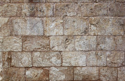 Background of brick wall texture from jerusalem stone Royalty Free Stock Photography