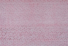 Background of brick wall texture, pink colored Royalty Free Stock Photos