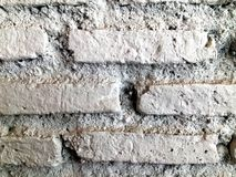 White misty brick wall for background or texture  Royalty Free Stock Images