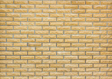 Background of brick wall texture. Yellow brick royalty free stock image
