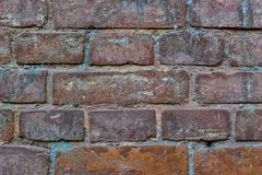 The background of the brick wall of a very old building. The background of the brick wall of the old building stock photography
