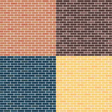 Background of brick walls. red, yellow, blue, brown. Seamless pattern vector illustration