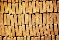 Background of bricks, construction industry Stock Photography