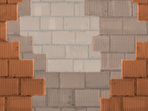 Background with bricks wall Stock Image
