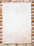 Background with bricks and white area. Nice background with bricks and white area stock photo