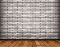 Background with bricks and wooden floor. Background with white bricks and wooden floor. vector illustration stock illustration