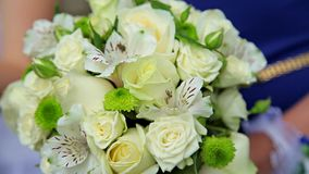 Background of bridal bouquet in hand.  stock video footage