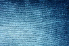 Background of bright blue denim with stripes Stock Image