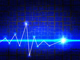 Background with bright blue lights Royalty Free Stock Photo