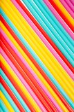 Colorful drinking straws background stock image