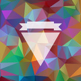 Background with bright colored triangles Stock Photography